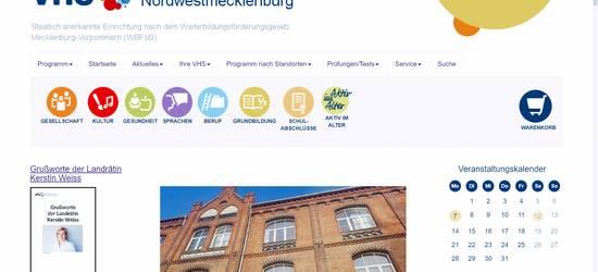 Startseite der Kreisvolkshochschule ©LK NWM